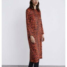 Leopard print dress at Zara