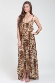 Leopard print maxi dress at The Trend Boutique