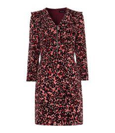 Leopard print mini dress at Karen Millen