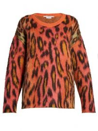 Leopard-print mohair sweater at Matches