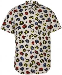 Leopard print short sleeve shirt at Topman