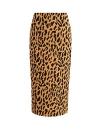 Leopard-print stretch-cady pencil skirt at Matches