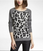 Leopard print sweater at Express