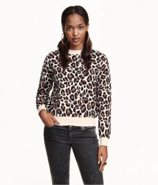Leopard print sweater at H&M