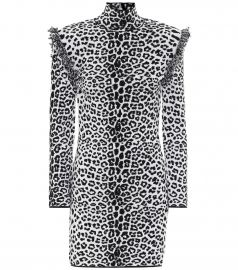 Leopard-print wool and cashmere dress at Mytheresa