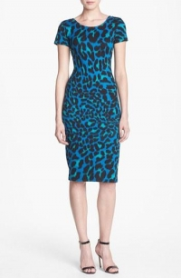 Leopard spot body con dress by WAYF at Nordstrom