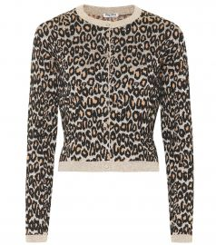 Leopard wool-blend jacquard cardigan at Mytheresa