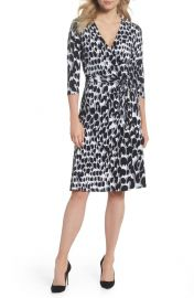 Leota Print Jersey Faux Wrap Dress at Nordstrom