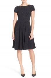 Leota  Circle  Jacquard Woven Jersey Dress at Nordstrom
