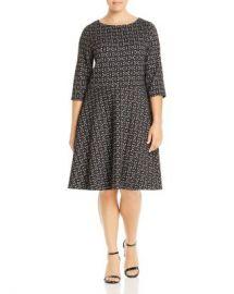 Leota Plus Geometric Jacquard Fit-and-Flare Dress Women -  Plus - Bloomingdale s at Bloomingdales
