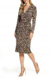 Leota Scarlett Long Sleeve Faux Wrap Dress   Nordstrom at Nordstrom