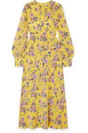 Les R  veries - Floral-print silk crepe de chine dress at Net A Porter
