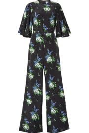 Les R  veries - Floral-print silk crepe de chine jumpsuit at Net A Porter