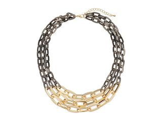 Leslie Danzis Chunky Link Two-Tone Necklace Gunmetal at 6pm