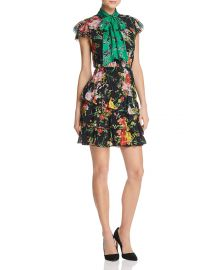 Lessie Tiered Floral Tie-Neck Dress by Alice + Olivia at Bloomingdales