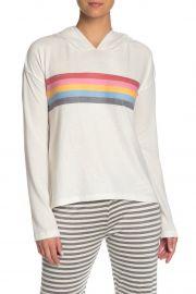 Let\'s Flamingo Stripe Hoodie by PJ Salvage at Nordstrom Rack