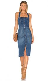 Level 99 Claire Denim Snap Dress in Lake Shore from Revolve com at Revolve