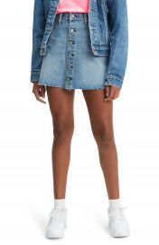 Levi  x27 s   Button Front Cutoff Miniskirt   Nordstrom at Nordstrom