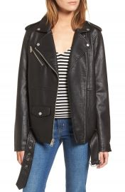 Levi  x27 s   Oversize Faux Leather Moto Jacket   Nordstrom at Nordstrom