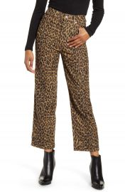 Levi  x27 s   Ribcage Leopard Straight Leg Corduroy Pants   Nordstrom at Nordstrom
