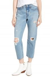 Levi  x27 s   Wedgie Ripped Straight Leg Jeans  Authentically Yours at Nordstrom