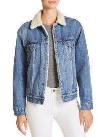 Levi  x27 s Sherpa-Trimmed Denim Trucker Jacket Women - Bloomingdale s at Bloomingdales