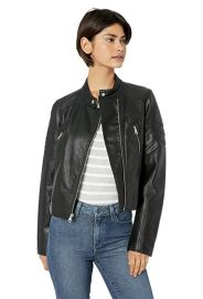 Levi\'s  Faux Leather Fashion Racer Jacket at Amazon