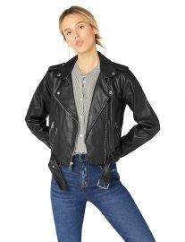 Levi s Women s Faux Leather Asymmetrical Belted Motorcycle Jacket at Amazon