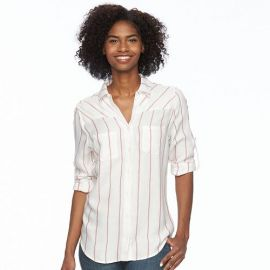 Levis striped roll tab shirt at Kohls