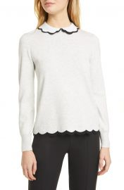 Lheo Scallop Detail Layered Sweater at Nordstrom