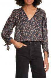 Lia Floral Silk Blend Top at Nordstrom