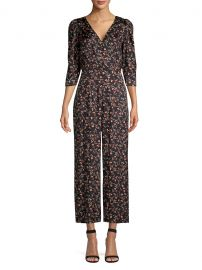 Lia Floral Stretch-Silk Jumpsuit at Saks Off 5th