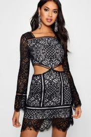 Lia Lace Dress at Boohoo