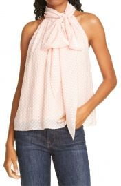 Liana Fil Coupé Ruffled Bow Top at Nordstrom