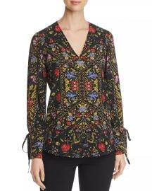 Liana Printed-Silk Top at Bloomingdales