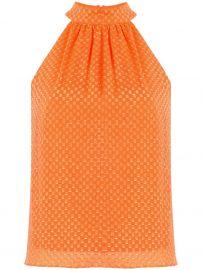 Liana geometric-print cotton blouse at Farfetch