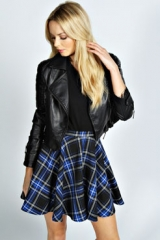 Libby Tartan Skirt at Boohoo