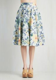 Library in Love Skirt at ModCloth