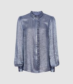 Liddy Metallic Blouse at Reiss