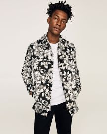 Light weight Floral Print Jacket by Zara at Zara