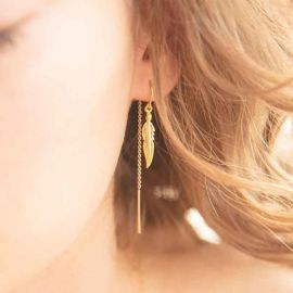 Light as a Feather Earrings at Katie Dean Jewelry