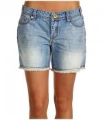 Light denim shorts by Mek Denim at 6pm