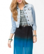 Light wash denim jacket at Forever 21