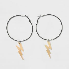 Lightning Bolt Hoop Earrings by Wild Fable at Target at Target