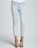 Lightwash printed jeans like Carries at Neiman Marcus