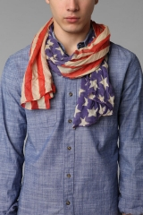 Lightweight flag scarf at Urban Outfitters