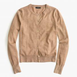 Lightweight wool Jackie cardigan sweater in hthr saddle at J. Crew