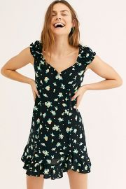 Like A Lady Black Mini Dress by Free People at Free People