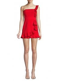Likely - Vivianna Asymmetric Ruffle Romper at Saks Off 5th