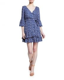 Likely Casimira Floral-Print Flounce Dress at Neiman Marcus